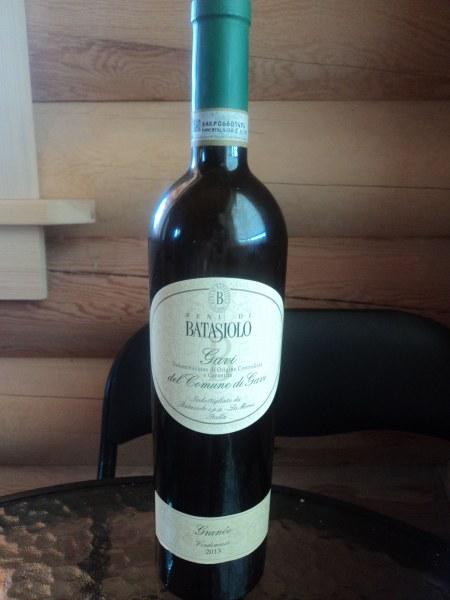 бутылка итальянского вина Гави Батазиоло