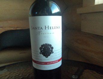 красное сухое вино Санта Хелена Резерва. Каберне Совиньон. Чили
