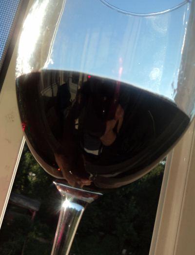 красное сухое вино барбера ди асти в бокале