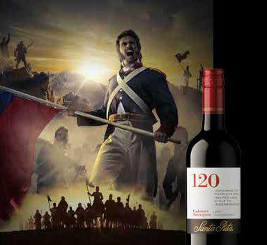 Чилиское Красное вино Санта Рита 120