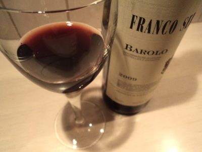 красное вино бароло франко серра бокал