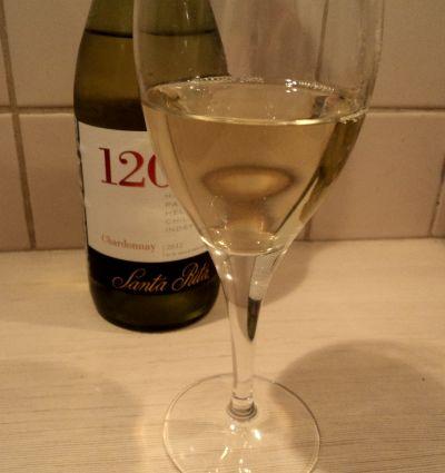 белое чилийское вино santa rita 120 chardonnay бокал