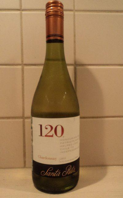 белое чилийское вино santa rita 120 chardonnay бутылка