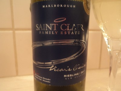 2 saint clair riesling label