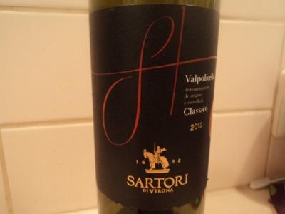 valpolicella classico sartori label