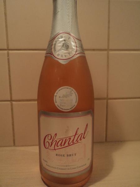 chantal brut rose cremant bottle