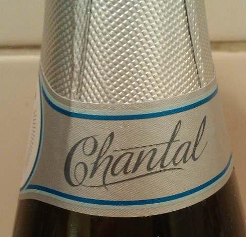 внешний вид бутылки Cremant de Loire Rose. Brut. Chantal.