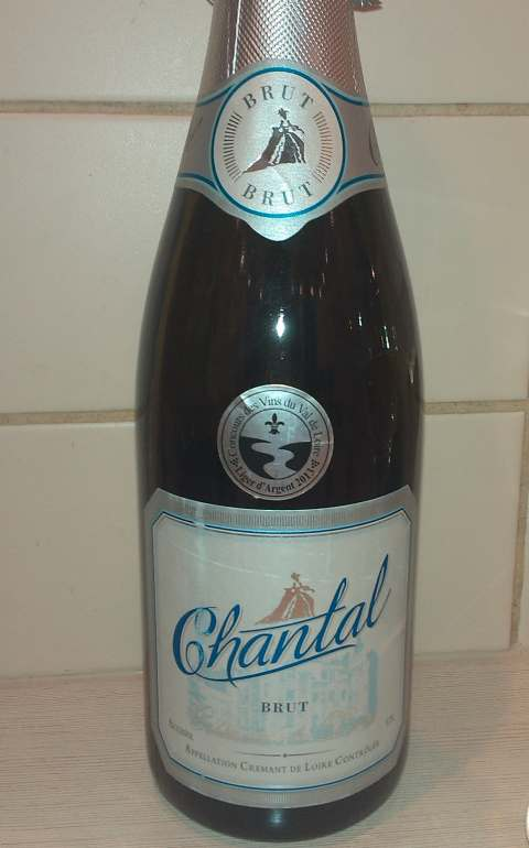 внешний вид бутылки Cremant de Loire Brut Chantal