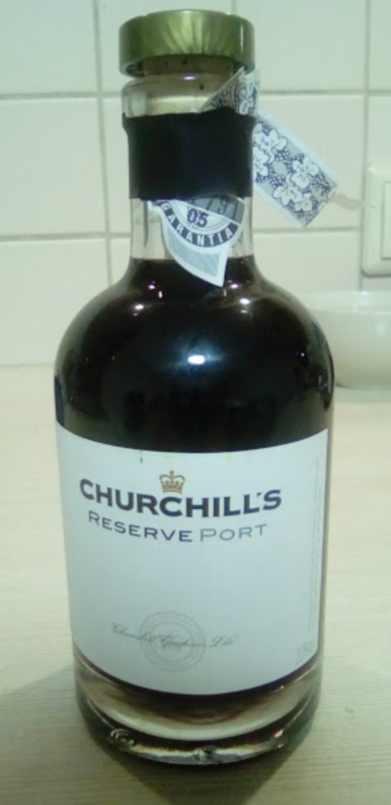 Churchills reserve port bottle