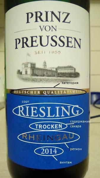 как прочитать этикетку немецкого вина