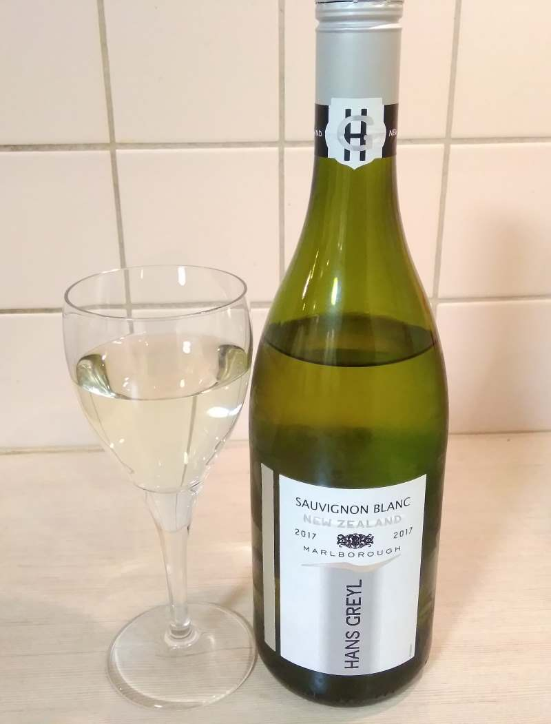 glass and bottle hans greyl sauvignon blanc